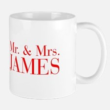 Mr Mrs JAMES-bod red Mugs