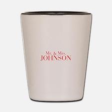 Mr Mrs JOHNSON-bod red Shot Glass