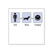 Man Plus Dog Equals Happy Sticker
