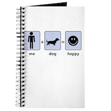Man Plus Dog Equals Happy Journal