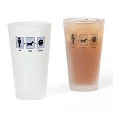 Man Plus Dog Equals Happy Drinking Glass