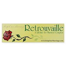 Victorian Rose Bumper Bumper Sticker