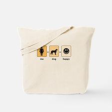 Woman plus dog equals happy Tote Bag