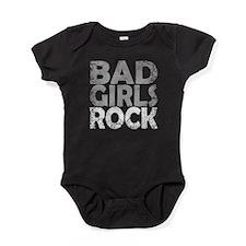 BAD GIRLS ROCK WHITE Baby Bodysuit