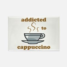 Addicted To Cappuccino Rectangle Magnet
