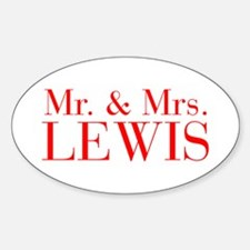 Mr Mrs LEWIS-bod red Decal