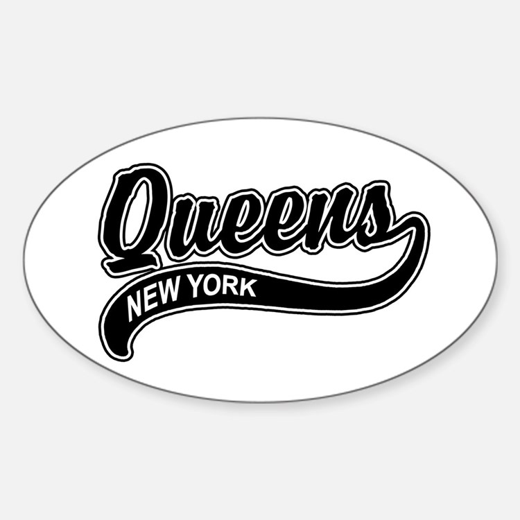 Queens New York Oval Decal