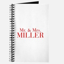 Mr Mrs MILLER-bod red Journal