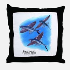 Bandwing Flying Fish Throw Pillow