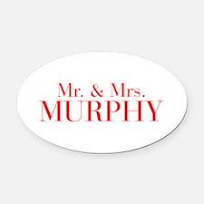Mr Mrs MURPHY-bod red Oval Car Magnet