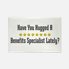 Hugged Benefits Specialist Rectangle Magnet