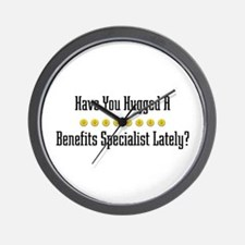 Hugged Benefits Specialist Wall Clock