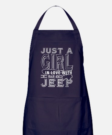 Just A Girl In Love With Her Jeep T S Apron (dark)