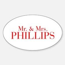 Mr Mrs PHILLIPS-bod red Decal