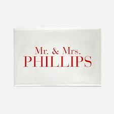Mr Mrs PHILLIPS-bod red Magnets