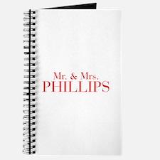 Mr Mrs PHILLIPS-bod red Journal