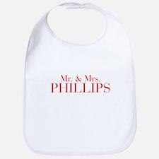 Mr Mrs PHILLIPS-bod red Bib
