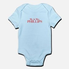 Mr Mrs PHILLIPS-bod red Body Suit