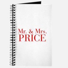 Mr Mrs PRICE-bod red Journal