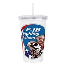 fighting_falcon Acrylic Double-wall Tumbler