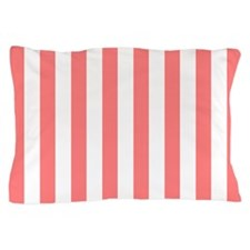 Coral Stripes Pillow Case