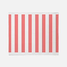 Coral Stripes Throw Blanket