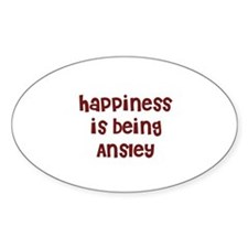 happiness is being Ansley Oval Decal