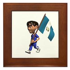 Guatemala Boy Framed Tile