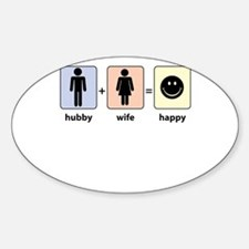 Hubby plus Wife equals Happy Decal