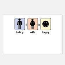 Hubby plus Wife equals Happy Postcards (Package of