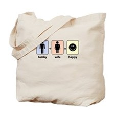 Hubby plus Wife equals Happy Tote Bag