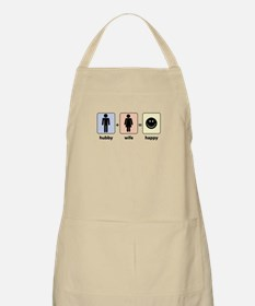 Hubby plus Wife equals Happy Apron