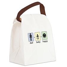 DAD plus BABY equals HAPPY Canvas Lunch Bag