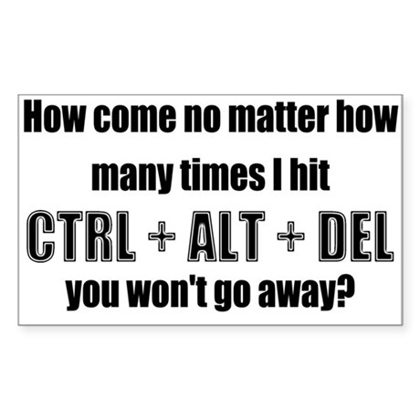 CTRL+ALT+DEL Rectangle Sticker