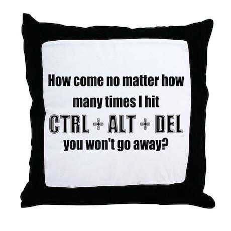 CTRL+ALT+DEL Throw Pillow