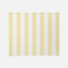 Yellow Stripes Pattern Throw Blanket