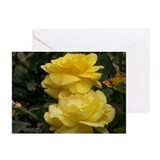 Yellow rose Greeting Cards (10 Pack)