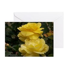Yellow Roses Greeting Cards (Pk of 10)