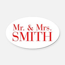 Mr Mrs SMITH-bod red Oval Car Magnet
