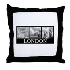 London gray Throw Pillow