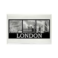 London gray Rectangle Magnet (10 pack)