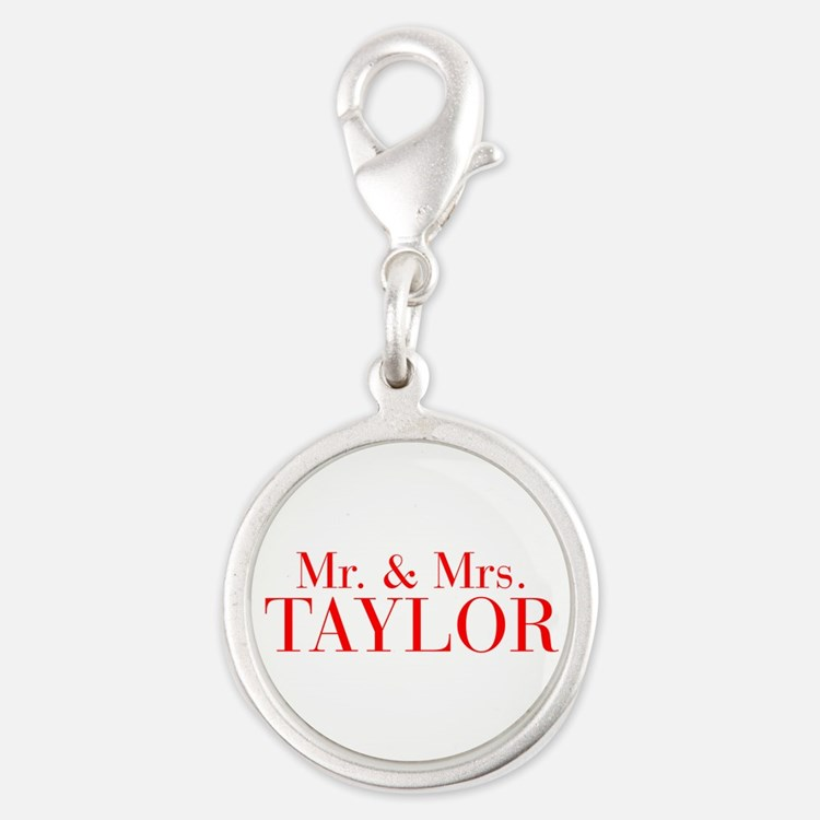 Mr Mrs TAYLOR-bod red Charms