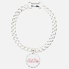 Mr Mrs TAYLOR-bod red Bracelet