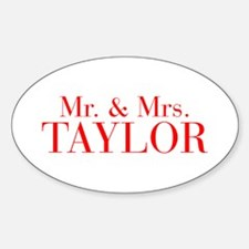 Mr Mrs TAYLOR-bod red Decal