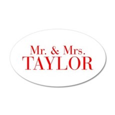Mr Mrs TAYLOR-bod red Wall Decal