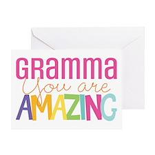 Gramma amazing quote Greeting Cards