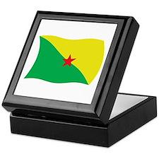 French Guiana Liberation Flag 2 Keepsake Box
