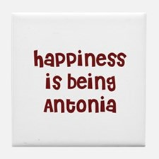 happiness is being Antonia Tile Coaster