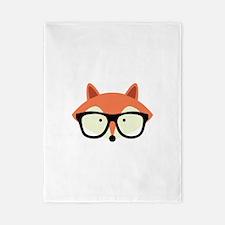Hipster Red Fox Twin Duvet