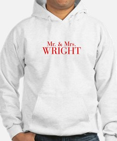 Mr Mrs WRIGHT-bod red Hoodie